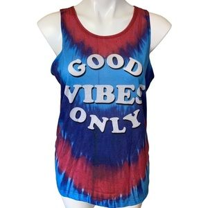 Hybrid Good Vibes Only Tie Dyed Tank Top